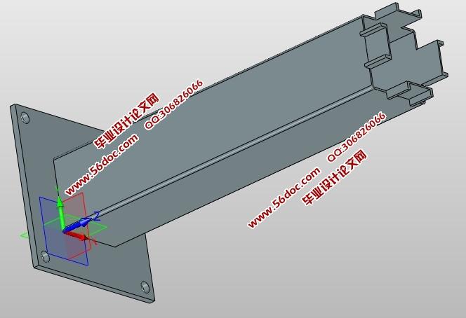 四级伸缩臂机构实体建模设计(含caxa零件图装配图,ug三维图)